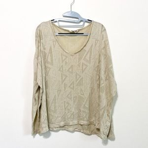 Show Me Your MuMu Triangle Pattern Sweater Small